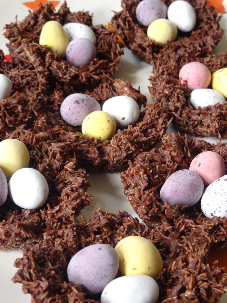 Coconut and Chocolate Nests | Easter | Pinterest